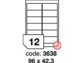 Etiketa 96x42.3 mm inkjet/laser/copy Office