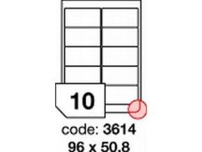 Etiketa 96x50.8 mm LASER LESKLÁ BÍLÁ polyesterová R0504