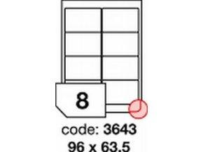 Etiketa 96x63.5 mm inkjet/laser/copy Office