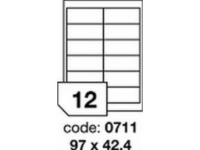 Etiketa 97x42.4 mm inkjet/laser/copy Office