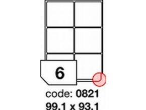 Etiketa 99.1x93.1 mm inkjet/laser/copy Office
