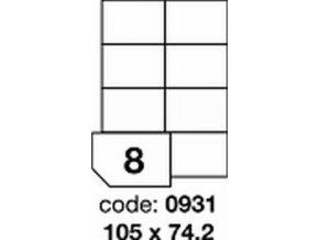 Etiketa 105x74 mm inkjet/laser/copy Office