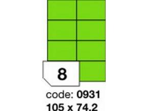 Etiketa 105x74 mm zelená FLUOrescentní laser/copy Office
