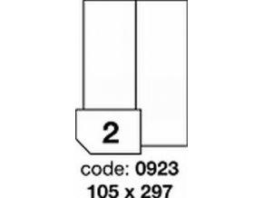 Etiketa 105x297 mm inkjet/laser/copy Office