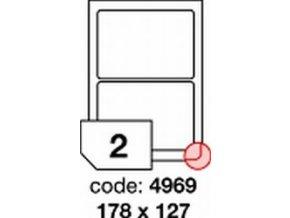 Etiketa 178x127 mm inkjet/laser/copy Office