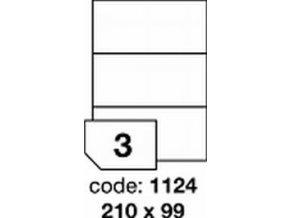 Etiketa 210x99 mm inkjet/laser/copy Office