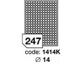 Etiketa kolečka 14 mm mm inkjet/laser/copy Office