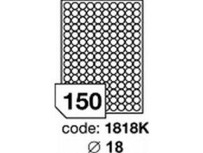Etiketa kolečka 18 mm mm inkjet/laser/copy Office