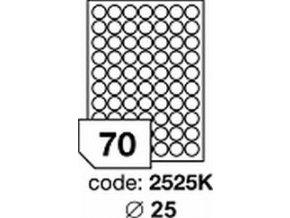 Etiketa kolečka 25 mm mm inkjet/laser/copy Office