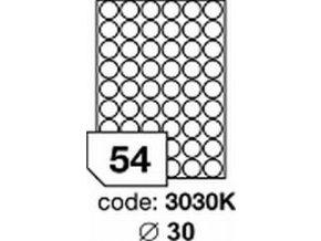 Etiketa kolečka 30 mm mm inkjet/laser/copy Office
