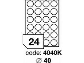 Etiketa kolečka 40 mm mm inkjet/laser/copy Office
