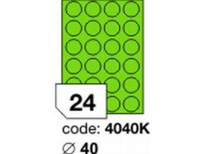 Etiketa kolečka 40 mm mm zelená inkjet/laser/copy Office