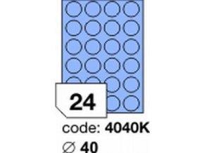 Etiketa kolečka 40 mm mm modrá inkjet/laser/copy Office