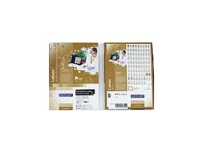 Etiketa kolečka 40 mm mm růžová FLUOrescentní laser/copy Office