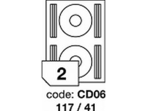 Etiketa CD06 - 117x41 mm inkjet/laser/copy Office