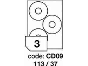 Etiketa CD09 - 113x37 mm inkjet/laser/copy Office