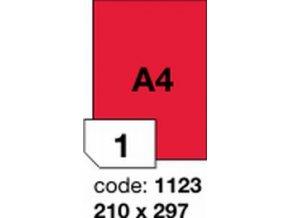 Etiketa 210x297 A4 mm červená inkjet/laser/copy Office