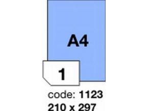 Etiketa 210x297 A4 mm modrá inkjet/laser/copy Office