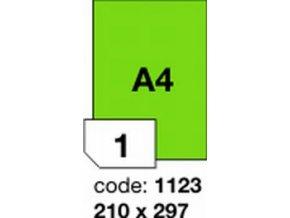 Etiketa 210x297 A4 mm zelená FLUOrescentní laser/copy Office