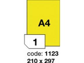 Etiketa 210x297 A4 mm žlutá FLUOrescentní laser/copy Office