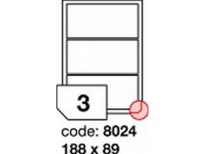 Etiketa 188x89 mm LASER LESKLÁ BÍLÁ polyesterová R0504