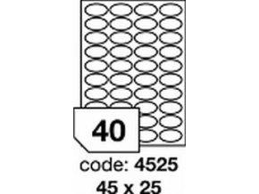 Etiketa 44x12.7 mm inkjet/laser/copy Office 1 LIST