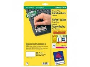 Avery Zweckform etikety 45.7mm x 25.4mm, A4, bílé, 40 etiket, permanentní, odolné vůči manipulaci, baleno po 20 ks, L6145-20, pro