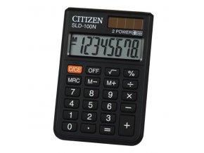 Citizen Kalkulačka SLD100NR, černá, kapesní, osmimístná