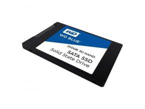"""Interní disk SSD Western Digital 2.5"""", SATA III, 250GB, WD Blue 3D NAND, WDS250G2B0A černý, 525 MB/s,550 MB/s"""