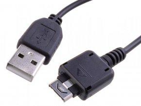 Kabel USB USB A M- KG800 M, 0.22m, černý, Avacom, LG KG800,KU990,KS360, neumožňuje přenos dat