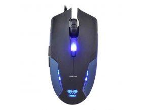 E-Blue Myš Cobra II, 1600DPI, optická, 6tl., 1 kolečko, drátová USB, modrá, herní