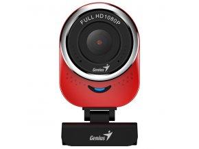 Genius Web kamera QCam 6000, 2,1 Mpix, USB 2.0, červená