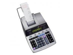 Canon Kalkulačka MP1211-LTSC, stříbrná, stolní s tiskem, dvanáctimístná, napájení ze sítě, záloha na baterii