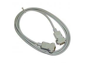 Datový kabel sériový, 9 pin F- 9 pin F, 2m, šedý, křížený