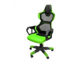Herní židle E-Blue COBRA AIR, zelené, prodyšná záda