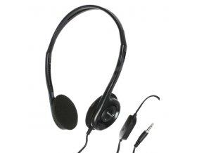 Genius HS-200C, sluchátka s mikrofonem, bez ovládání hlasitosti, černá, 3.5 mm jack