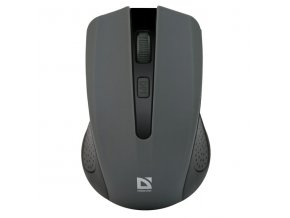 Defender Myš Accura MM-935, 1600DPI, 2.4 [GHz], optická, 4tl., 1 kolečko, bezdrátová, šedá, 2 ks AAA, nanopřijímač, rozsah 10m