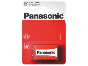 Baterie zinkouhlíková, 6F22, 9V, Panasonic, blistr, 1-pack