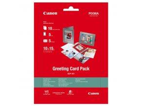 "Canon Greeting Card Pack, foto papír, lesklý, bílý, 10x15cm, 4x6"", 170 g/m2, 10 ks, 0775B077, inkoustový"
