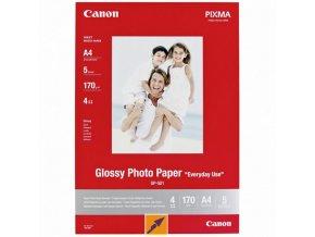 Canon Glossy Photo Paper, foto papír, lesklý, GP-501 typ bílý, 21x29,7cm, A4, 200 g/m2, 5 ks, 0775B076, inkoustový