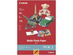 Canon Matte Photo Paper, foto papír, matný, bílý, A4, 170 g/m2, 5 ks, 7981A042, inkoustový