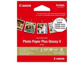 """Canon Photo Paper Plus II, foto papír, lesklý, čtvercový typ bílý, PIXMA TS9500, TS8200 a TS6200, 8.89x8.89cm, 3.5x3.5"""", 265 g/m2,"""