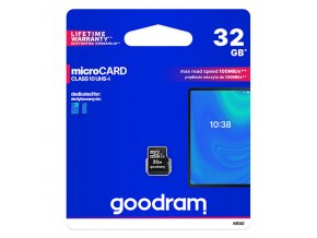 Goodram Micro Secure Digital Card, 32GB, micro SDHC, M1A0-0320R12, UHS I, pro archivaci dat