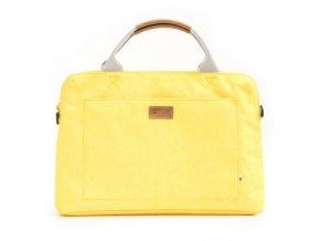 """Taška na macbook 15"""", Polaris Sun, žlutá z polyesteru, Golla"""