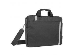 """Taška na notebook 16"""", Shiny, černá z polyesteru, s reflexními prvky typ Defender"""