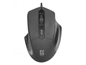 Defender Myš Datum MB-347, 1600DPI, optická, 4tl., 1 kolečko, drátová USB, černá, kancelářská