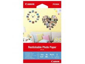 """Canon Photo Paper RP-101, foto papír, přelepovatelný typ bílý, 10x15cm, 4x6"""", 260 g/m2, 5 ks, 3635C002, inkoustový"""