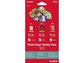 """Canon Photo Paper Variety Pack VP-101, foto papír, 5x PP201, 5x SG201, 10x GP501 typ lesklý, bílý, 10x15cm, 4x6"""", 20 ks, 0775B078,"""