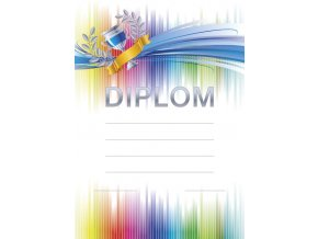 VÝPRODEJ - Diplom A4 Duha 1 ks