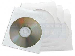 Doprodej - Obálka papírová na CD  1kus  s okénkem olizovací [ POUZE PO 100 ks ]